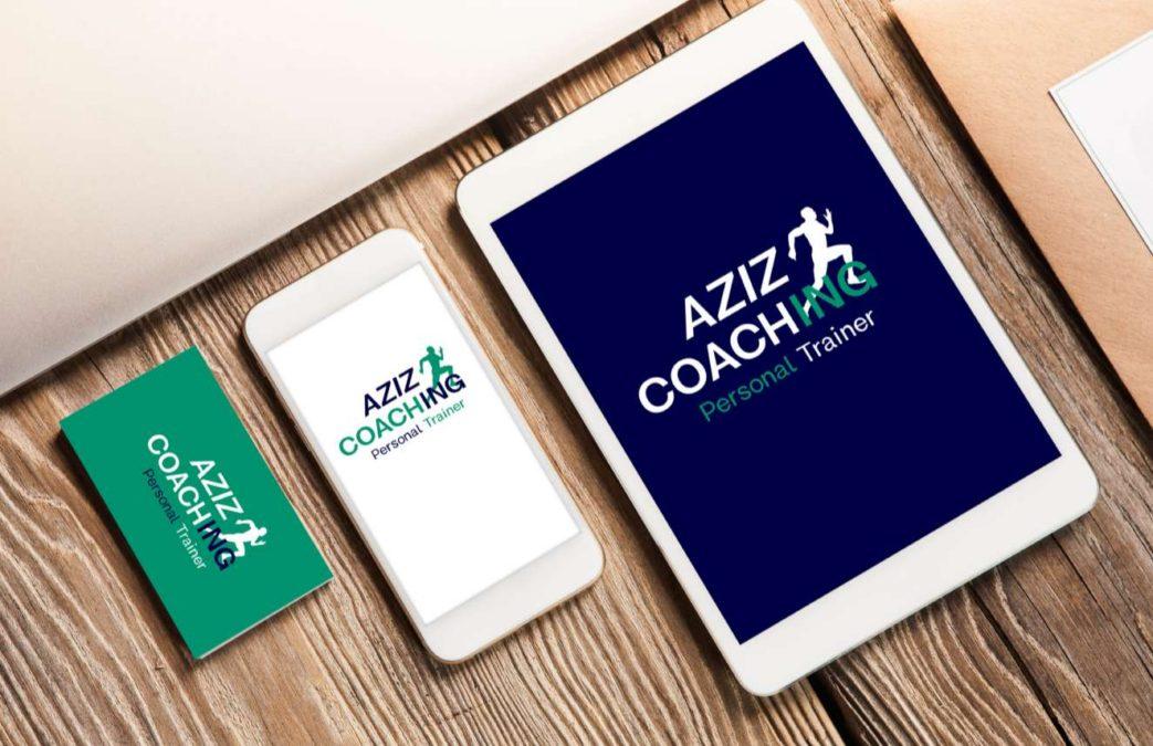 Cration De Lidentit Visuelle Logo Carte Visite Site Web AZIZ COACHING